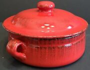 De Silva Large Red Terracotta Baking Casserole Pot With Lid Soup Family Dinners