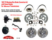 1967-68-69 Ford Mustang Front Drum To Power Disc Conv Kit 11 Rotors Manual