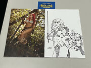 Red Sonja The Superpowers 2 135 Cosplay And 145 Linsner Bandw Sketch Variants