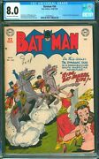 Batman 56 Cgc 8.0 Vf Nice Off White/white Pages Penguin Story Sharp Copy