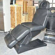Adjustable Electric Power Spa Facial Chair Table Black Bed Therapy Medical Seat