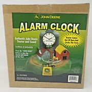 New John Deere Alarm Clock Tractor Circles The Farm Certificate Of Authenticity