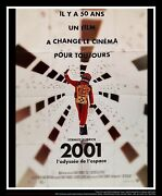 2001 A Space Odyssey 4x6 Ft French Grande Movie Poster Rerelease 2018