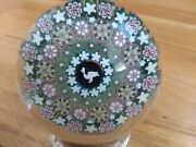 Damon Macnaught 1 Of A Kind Millefiori Paperweight Stave Basket Duck Silhouette