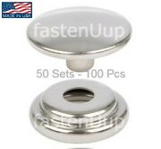 Dot Stainless Steel Snap Fasteners Cap And Socket Kit 50 Sets - Marine Canvas