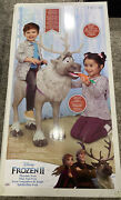 Disney Frozen 2 Sven Reindeer 3 Foot Animal Ride On Toy With Noise-ships Today