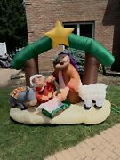 Gemmy 2007 Airblown 7-ft. Inflatable Christmas Nativity Scene--lights Up
