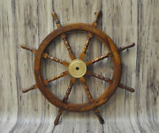 Nautical Ships Wheel Pirates Wheel Helm 36 Brass And Wooden Wheel Home Decoration
