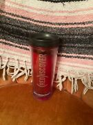 2007 Starbucks Rediscover 16 Oz Red Tumbler Mug Cold Insulated Coffee Cup