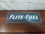 Old Phillips 66 Flite - Fuel Service Station Gas Pump Glass Sign Plane Airport