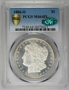 Pcgs Top Pop Only 1 In Pcgs 1886-o Ms64pl Proof Like With Cac No Reserve Nr