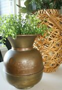 Antique Brass Embossed Union Pacific Rr Spitoon Made In Taiwanandnbsp