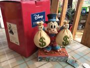 """V Rare Disney Tradition 'uncle Scrooge-mcduck' A Wealth Of Riches 7.5"""" Boxed"""