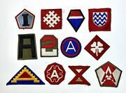 Lot Of 12 Wwii Us Army Groups And Armies Original Shoulder Sleeve Patches