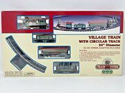 Vintage Lemax Village Train System 4 Cars Curved Track Speed Control Christmas