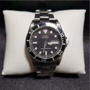 Seiko 7s26-0050 Day Date Stainless Steel Diver Automatic Mens Watch Auth Works