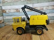 Vintage 1970and039s Tonka Mighty Shovel Crane Construction Truck Steel Metal Kids Toy