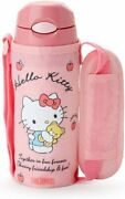 Sanrio Hello Kitty Thermos Straw Bottle With Cover Stainless Steel S-503878 New