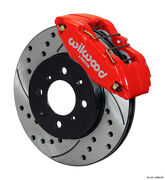 Wilwood Dpha Front Caliper And Rotor Kit, Drill, Red, Honda/acura W/262mm Oe Rotor