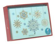 Papyrus Snowflake Christmas Holiday Boxed Cards 14-count Nib New In Box