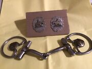 Sterling Silver Bridle Rosettes Marked / Bit Marked Showman