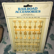 Vintage Bachmann Railroad Accessories Rail Road And Street Signs 42-2304