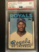1986 Topps Traded 50t Bo Jackson. Rc Rookie Psa 9. Low Population 144.