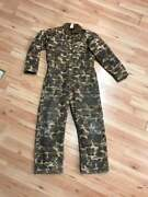Vintage Old School Brown Camo Duck Hunting Coveralls - Large, 42 - Usa