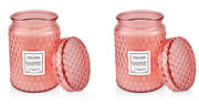 Voluspa Blackberry Rose And Oud Large Glass Jar Candle With Lid Candle Lot Of 2