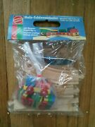Vintage Heros Wooden Rails Train Set With Magnetic Couplings - West Germany