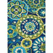 Covington 8and039w X 11and039l Hand-hooked Rip Tide Area Rug In Ocean/green