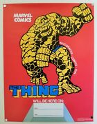Rare 1979 Marvel Comics Fantastic Four The Thing Appearance Poster Marvelmania