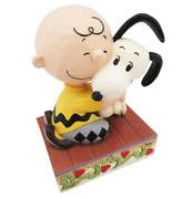 Peanuts Jim Shore Figure Snoopy And Charlie Brown Beagle Hug = Blissful Heart New