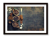 Coffee Sacks Brown Beans Framed Wall Artwork Picture Poster Print