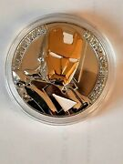 Silver / Gold - Iron Man - 1 Oz - Super Heroes Commemorative Coin Avengers