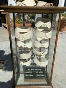 Antique Collar Case 11 Collars With Authographed Signatures Big Band Leaders