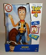 Disney Pixar Toy Story 4 Woody Talking Action Figure Over 15 Sayings New