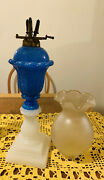 Boston And Sandwich Glass Clambroth Whale Oil Lamp