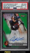 2019 Bowmanand039s Best Of And03919 Green Refractor Adley Rutschman Rookie Auto /99 Psa 10