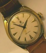 Vintage Rolex Oyster Precision Solid 10k Gold Gents 6022.1952.rwc Case.cal.710.