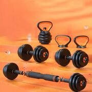 Dumbbell Set Weight Plates Home Gym Workout Comfortable Barbell Kettlebell Dumbb