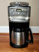 Cuisinart Grind And Brew Coffee Maker Thermal Stainless Steel Carafe Brush Chrome