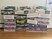 Hess Truck Lot 1976-2005 22 Boxes And Trucks All Have Not Been Used And Work