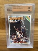 1975 Topps Moses Malone Psa / Bvg 8 Actually An 8.5 With 9.5 Sub Grades Look