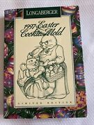 Longaberger Pottery Cookie Mold Limited Edition Vintage 1997 Easter