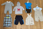 10 Piece Mixed Lot Of Infant Boys Clothes Size 6 Months