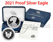 2021-w Proof American Silver Eagle Gem Proof Ogp 21ea Live