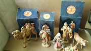 Vintage Fontanini Heirloom Nativity Camel Cow Eli And More Lot Of 8 Iob