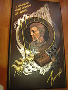38 Big Wall Picture Bust Vladimir Vysotsky Actor Board Embossed Copper Handmade