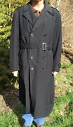 Vtg Us Military Army Wwii Wwi Trench Coat Overcoat S. Appel And Co Named Large Xl